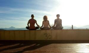 Meditaton me, sarah and mangalo